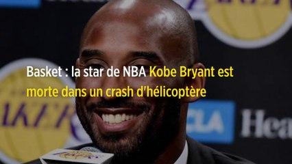 Basket : la star de NBA Kobe Bryant est morte dans un crash d'hélicoptère