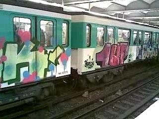Paris Subway Graffiti wagon