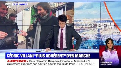 """Cédric Villani """"plus adhérent"""" d'En Marche - 27/01"""