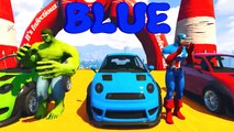 LEARN COLORS for Children W Spiderman and Superheroes Cycles Racing w Street Vehicles for Kids Ep 50
