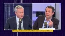 """Municipales à Paris : """"Je regrette la décision de Cédric Villani parce qu'elle nous affaiblit tous collectivement"""", déplore Bruno Le Maire"""