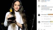Rosalía celebra su primer Grammy
