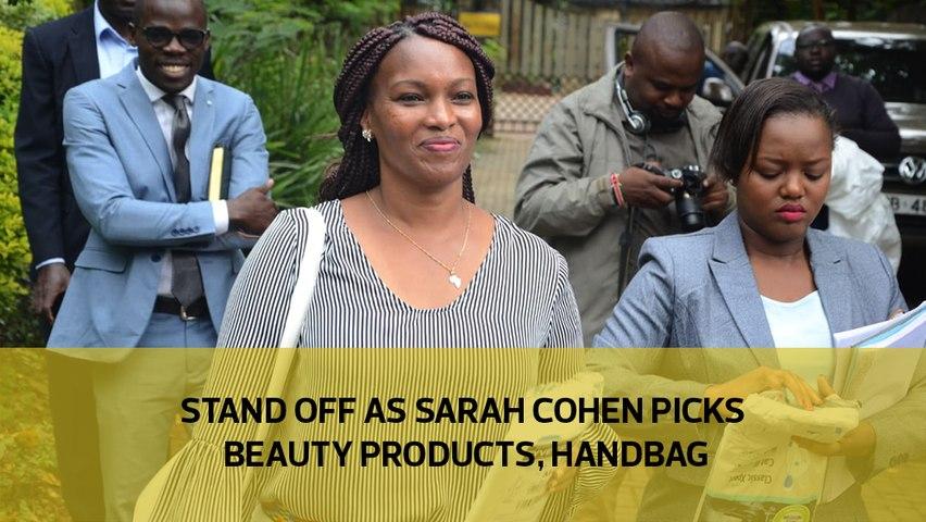 Stand off as Sarah Cohen picks beauty products, handbag