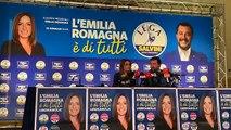 Salvini e Borgonzoni da Bologna commentato i risultati elettorali (27.01.20)