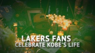 Kobe tragedy up there with Elvis - Lakers fans celebrate Bryant's life