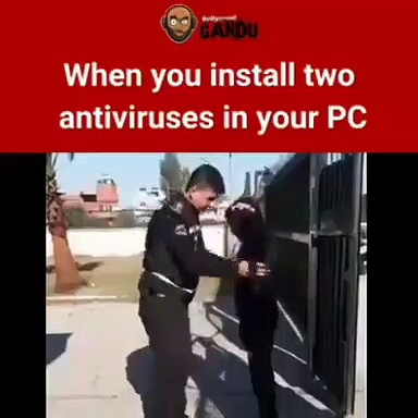 When you install two antivirus software in your pc and this happen watch till end