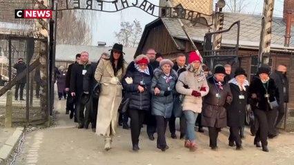 A Auschwitz, les rescapés appellent à ne pas oublier