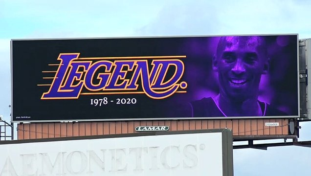 "Kobe Bryant ""Legend"" Billboard Shines On I-93 Outside Boston"
