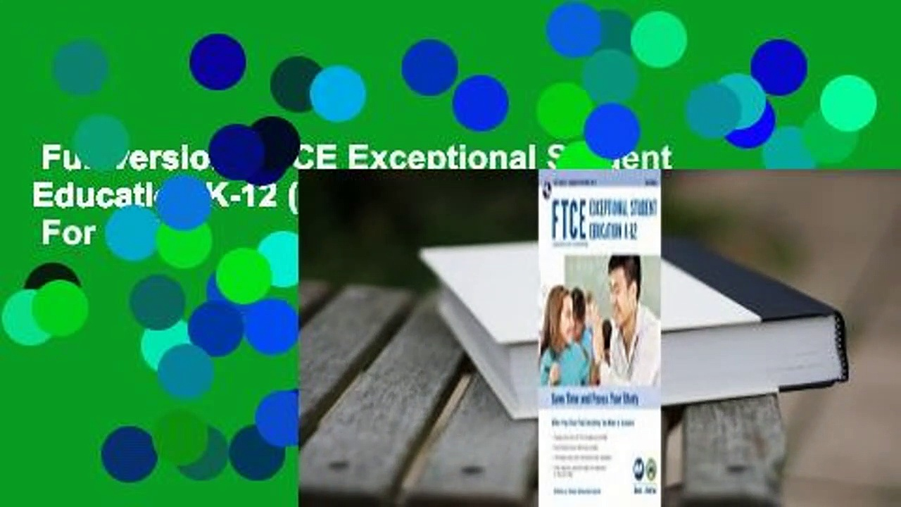 Full version  FTCE Exceptional Student Education K-12 (061) Book + Online 2e  For Online