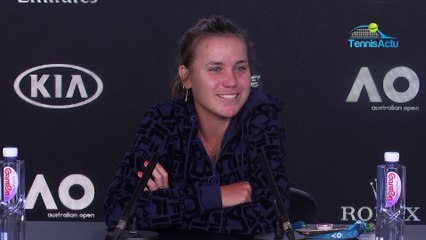 """Open d'Australie 2020 - Sofia Kenin is in the semi-finals : """"I knew how to keep my nerves"""""""