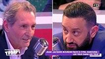 """Jean-Jacques Bourdin pousse Cyril Hanouna dans ses retranchements hier soir sur C8: """"Si Camille Combal est parti sur TF1, c'est à cause de l'argent"""""""