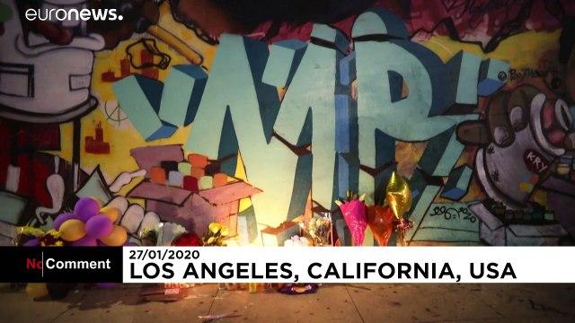 Kobe Bryant et sa fille Gianna sur les murs de Los Angeles