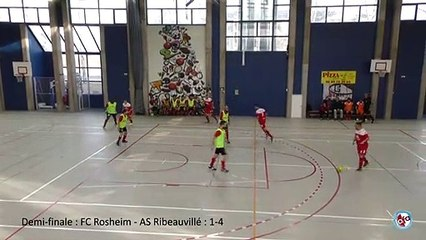 Demi-finale Challenge Futsal Alsace : FC Rosheim - AS Ribeauvillé : 1-4