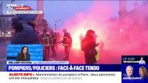 Story 2 : Face-à-face tendu entre pompiers et policiers en marge d'une manifestation à Paris - 28/01