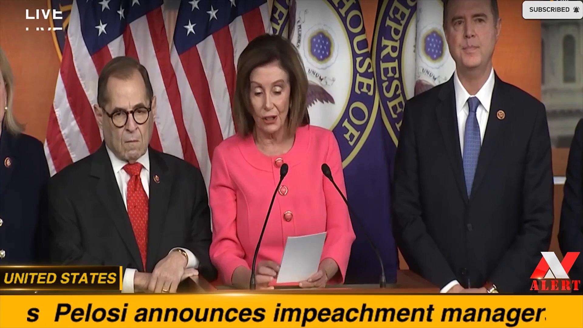 Pelosi announces impeachment managers — UNITED STATES