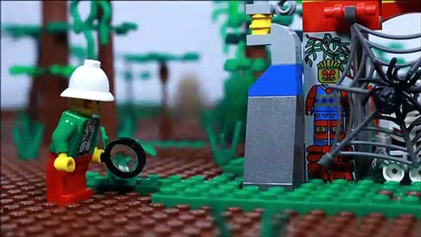 Lego Jungle stop motion set 5936 Spider's Secret from 1999 review