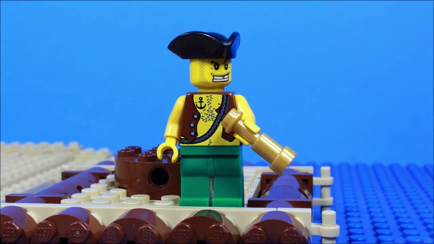 Lego Pirate stop motion set 6240 review