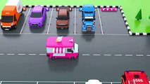Learn Colors with Car Parking Street Vehicles Toys