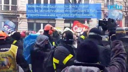 Violente manifestation des pompiers à Paris