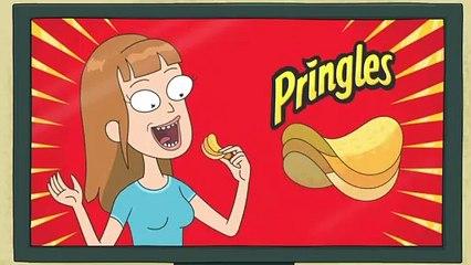 Rick et Morty assurent la promo des Pringles dans une pub du Super Bowl !