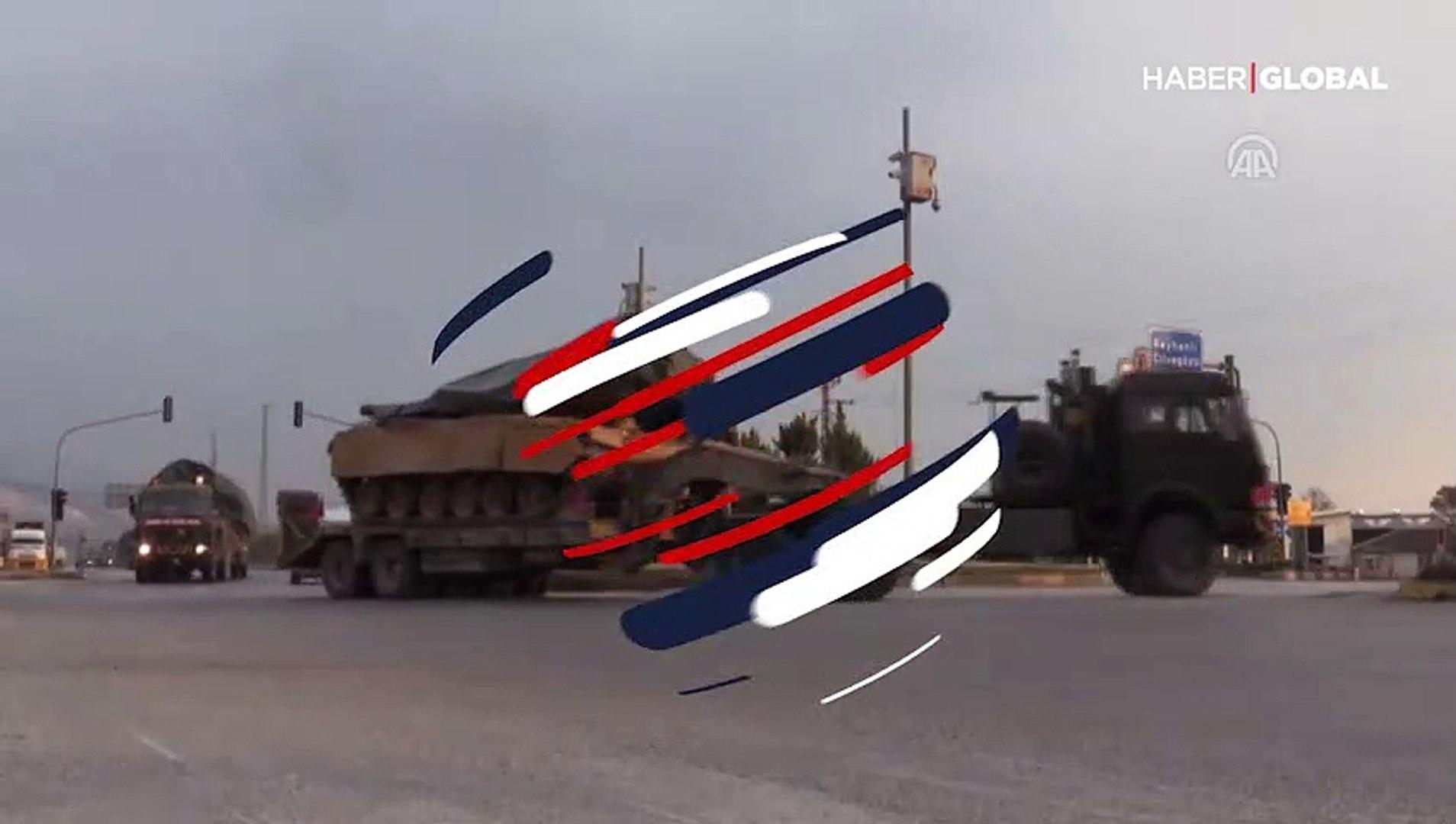 Hatay sınırında hareketlilik! Askeri araçlar Reyhanlı'ya ulaştı