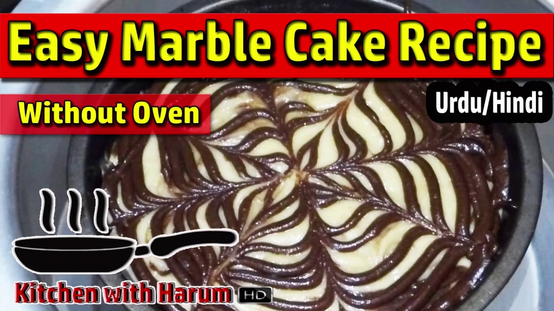 Easy Marble Cake Without Oven In Urdu Hindi Kitchen With Harum Video Dailymotion