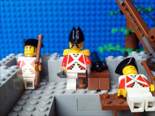 Lego American Revolution battle stop motion