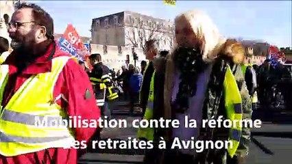 Avignon : mobilisation contre la réforme des retraites