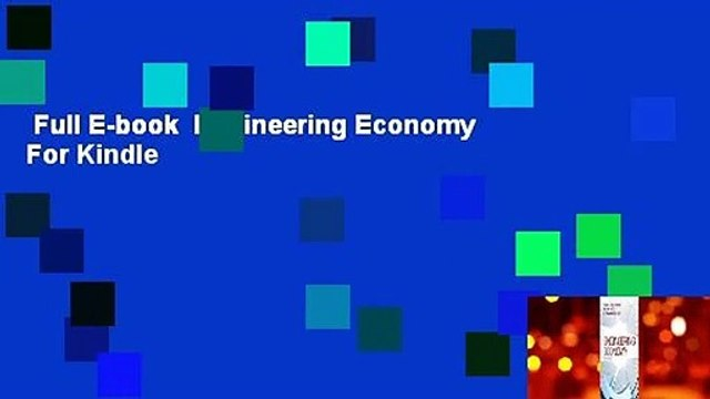 Full E-book  Engineering Economy  For Kindle