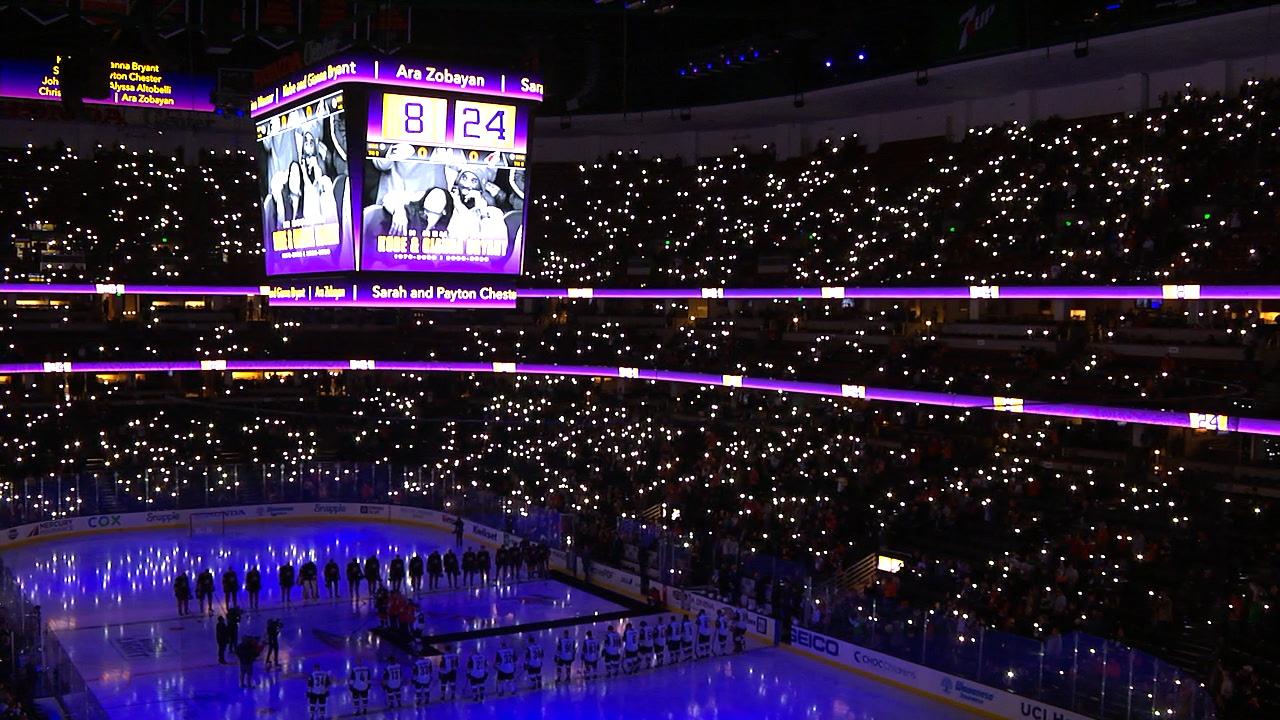Anaheim Ducks honor Kobe Bryant