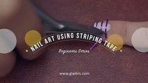 5 Nail Art Using Striping Tape  Beginners Series