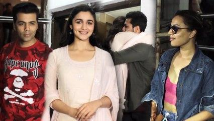 Alia Bhatt, Manushi Chhillar, Urvashi Rautela, Karan Johar & Others At Special Screening Of Raazi