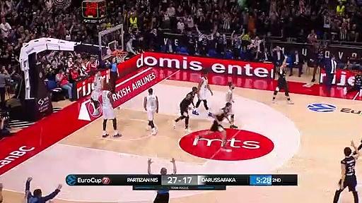 Partizan NIS Belgrade 69 - 57 Darüşşafaka Tekfen | Maç Özeti - EuroCup Top 16 - 4. Hafta