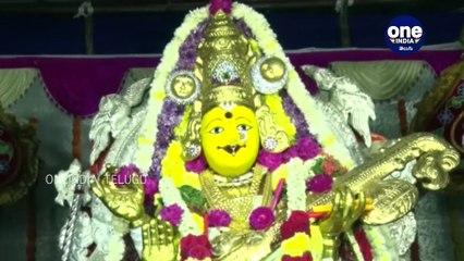 Goddess Kanaka Durga in Saraswathi Devi avatar at Indrakeeladri