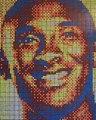 Basket-Ball - Un artiste réalise un portrait de Kobe Bryant avec des Rubik's Cube