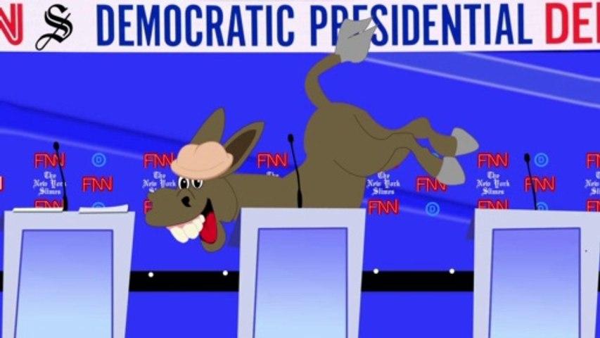 Democratic Debates (Throw Bernie Under the Bus) — Bad Drawings, Inc.