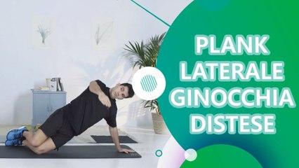 Plank laterale ginocchia distese - Siamo Sportivi