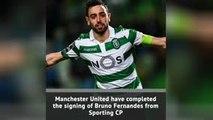 BREAKING NEWS - Man United complete Bruno Fernandes signing