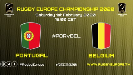 REPLAY - PORTUGAL / BELGIUM - RUGBY EUROPE CHAMPIONSHIP 2020