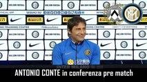 VERSO  UDINESE-INTER: CONFERENZA STAMPA di ANTONIO CONTE – INTEGRALE