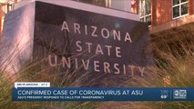 Confirmed case of coronavirus at ASU