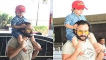 Taimur Ali Khan Loves A Mumbai Rickshaw Ride; Saif Ali Khan Says That's The Best Ride To Beat Traffic