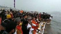 उत्तर प्रदेश के कानपुर नगर मे आज उत्तर प्रदेश के मुख्यमन्त्री समेत शासन के सभी मंत्रियों ने 'गंगा यात्रा' के समापन पर अटल घाट, कानपुर में मां गंगा की पूजा एवं गंगा आरती की