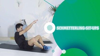 Schmetterling-Sit-ups - Du Bist Fit