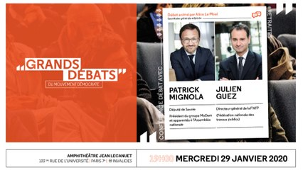 Les Grands Débats - Retraites, avec Patrick Mignola et Julien Guez - 290120