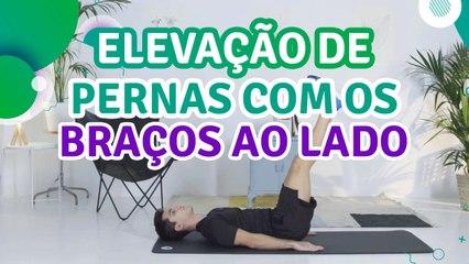 Elevação de pernas com os braços ao lado - Sou Fitness