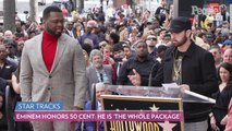 Eminem Honors 50 Cent at His Hollywood Walk of Fame Ceremony: He Is 'the Whole Package'