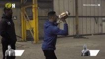 Anthony Joshua takes on Jason Bell in quarterback challenge