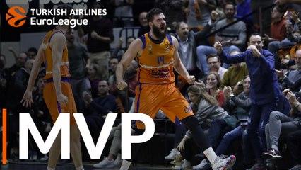 Round 22 MVP: Bojan Dubljevic, Valencia Basket