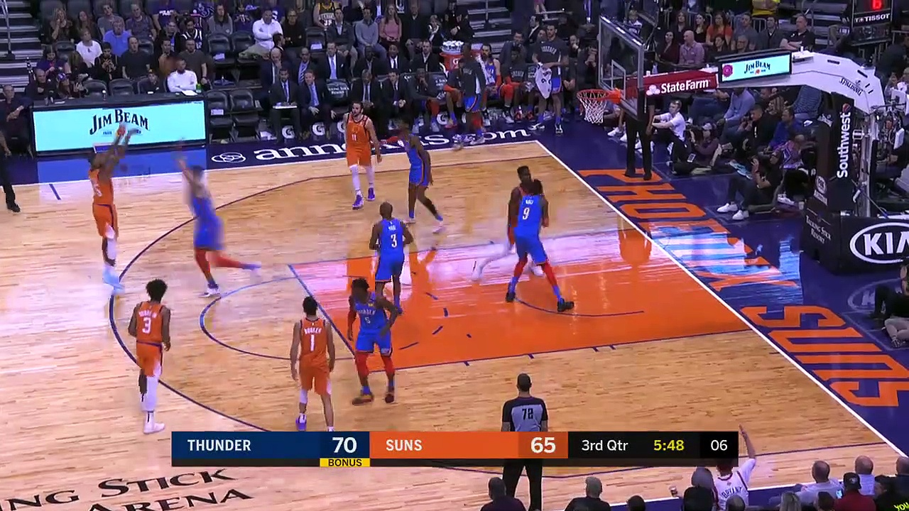 Oklahoma City Thunder 111 - 107 Phoenix Suns